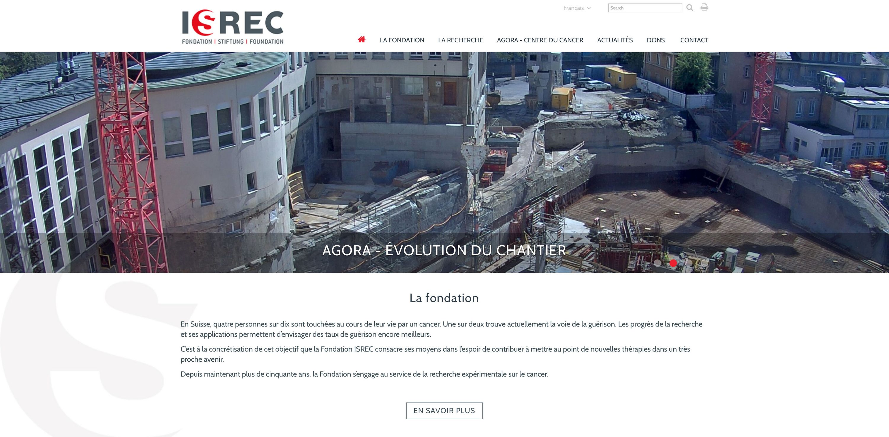 Fondation ISREC WNG Agence Digitale