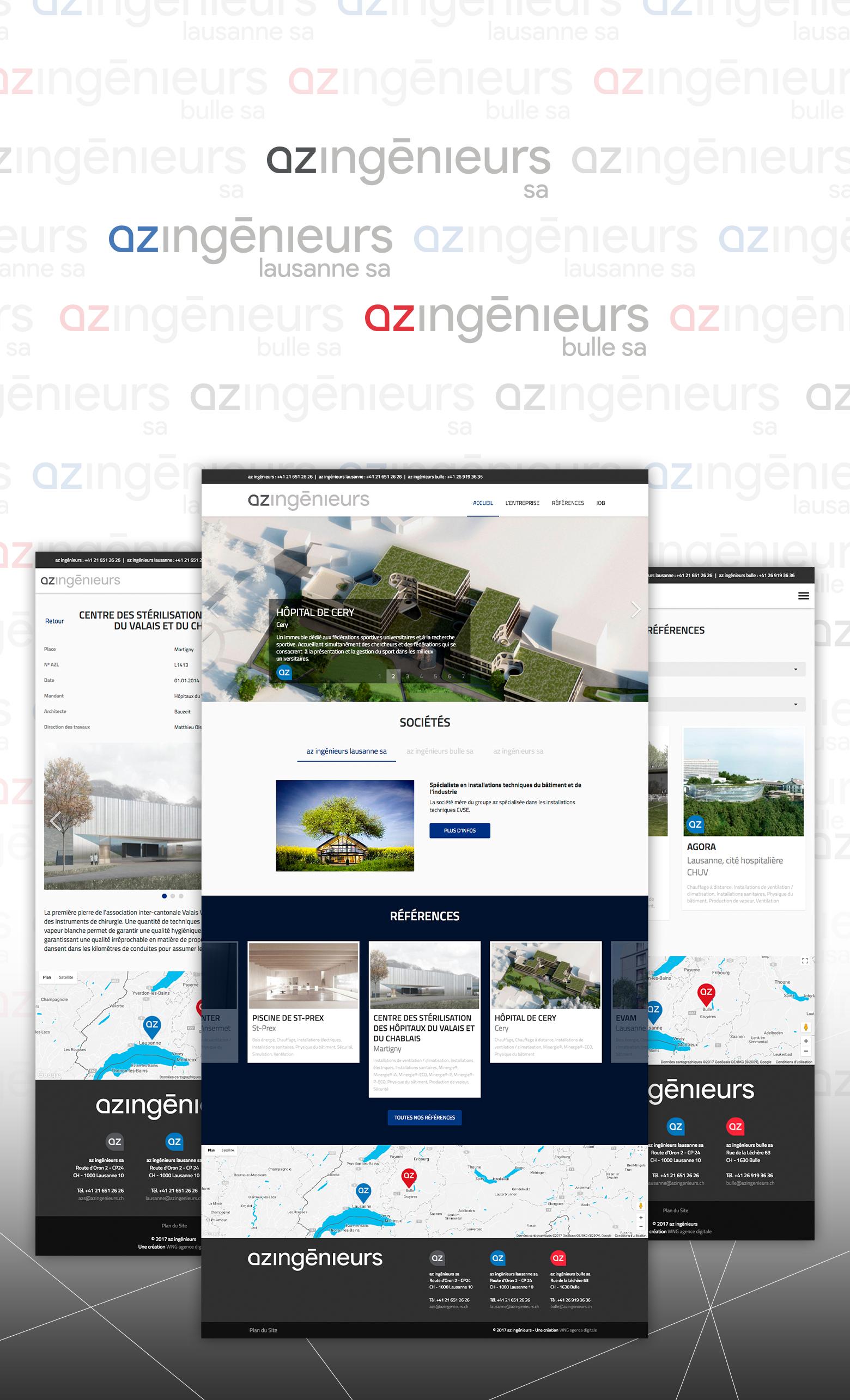 AZ ingénieurs SA WNG Agence Digitale