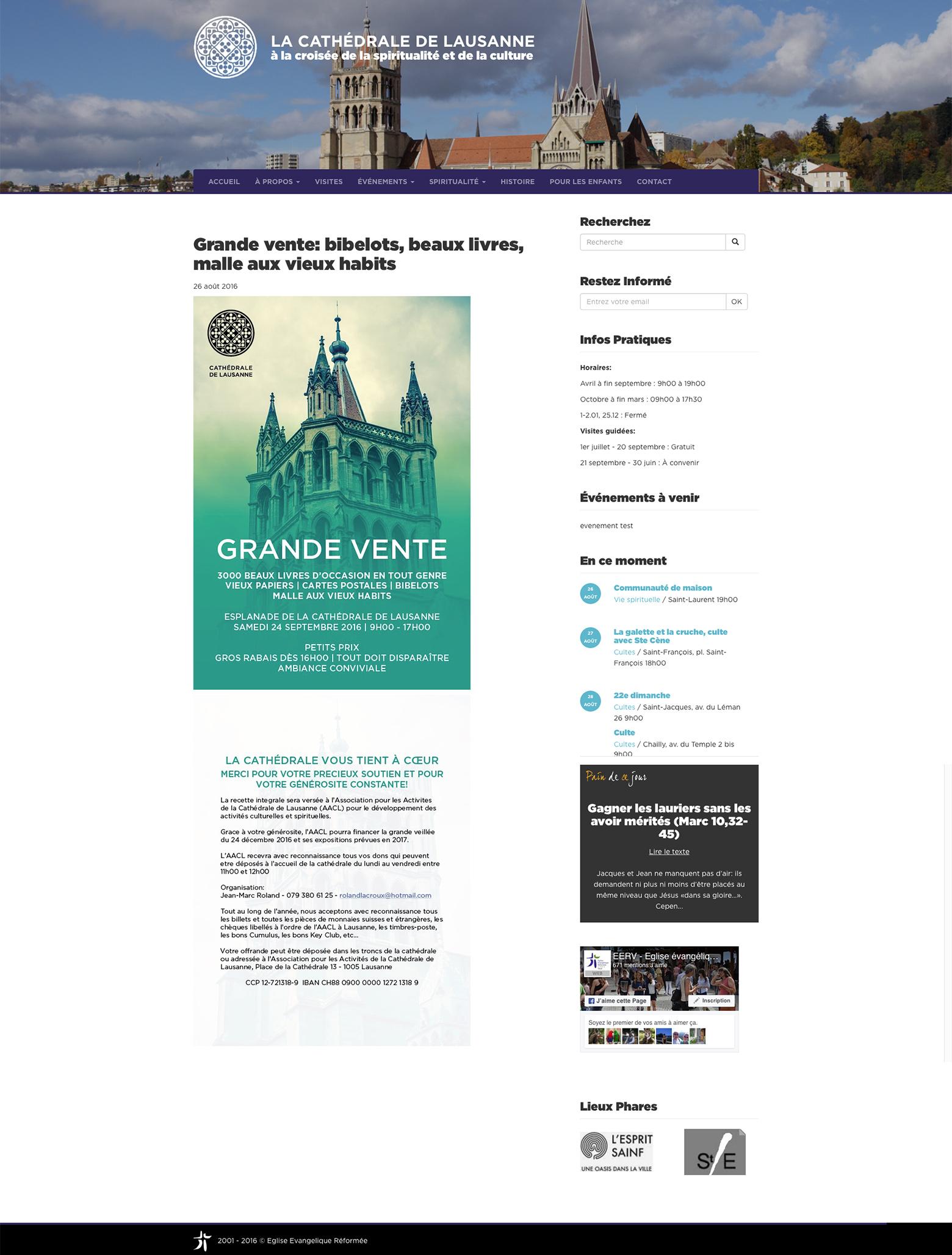 Cathédrale de Lausanne- EERV WNG Agence Digitale
