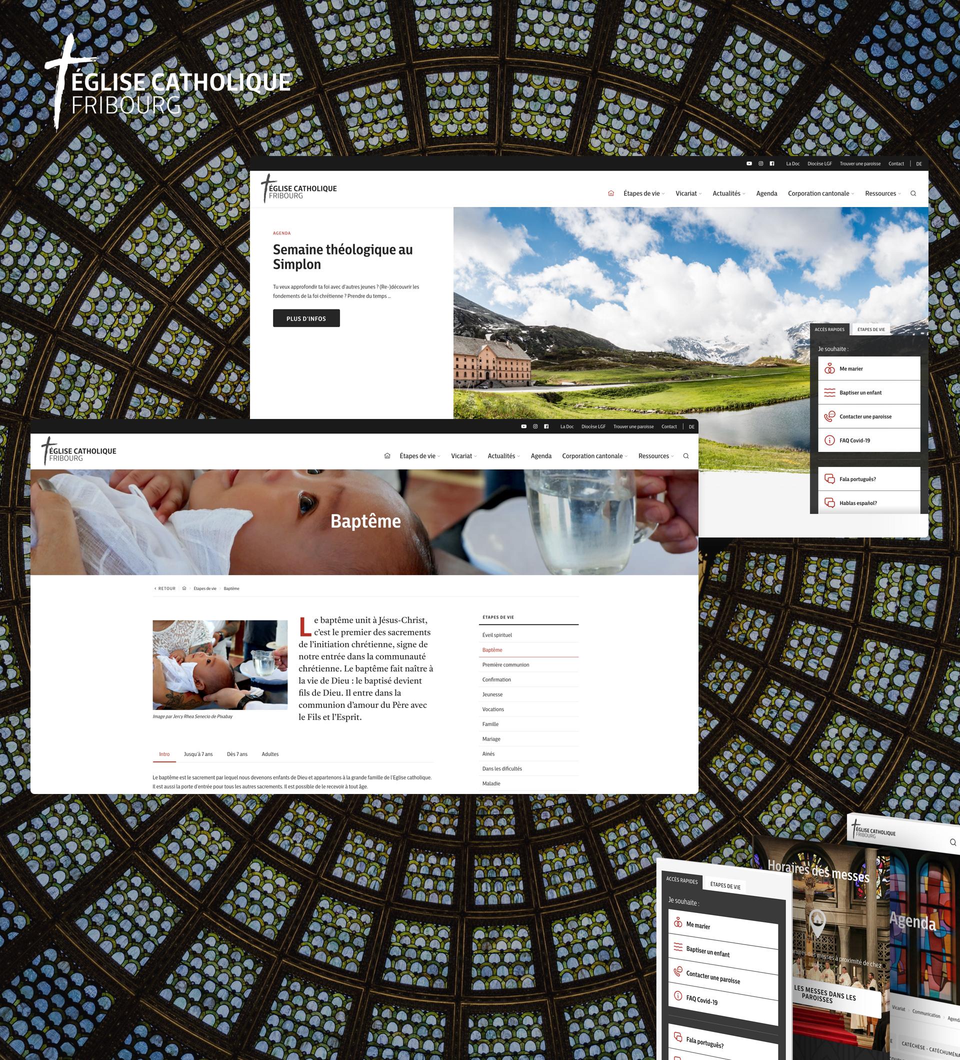 Église catholique du canton de Fribourg - WNG Agence Digitale