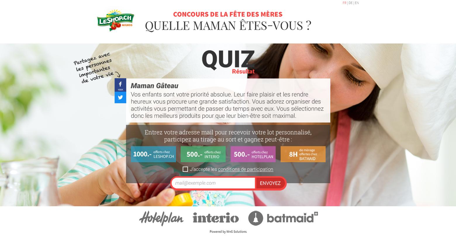 LeShop.ch Pour Maman WNG Agence Digitale