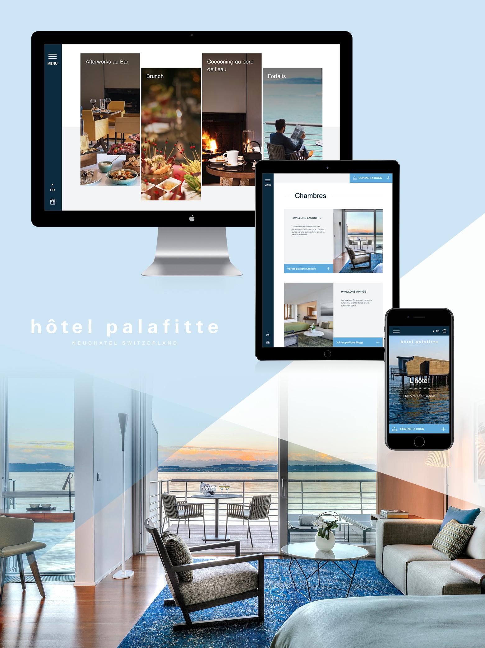Hôtel Palafitte Neuchâtel WNG Agence Digitale